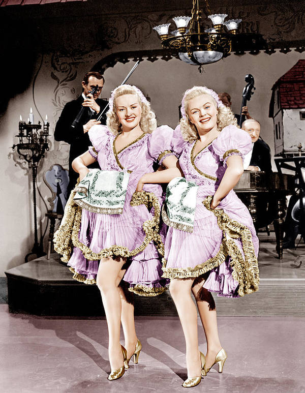 1940s Movies Poster featuring the photograph The Dolly Sisters, From Left Betty by Everett