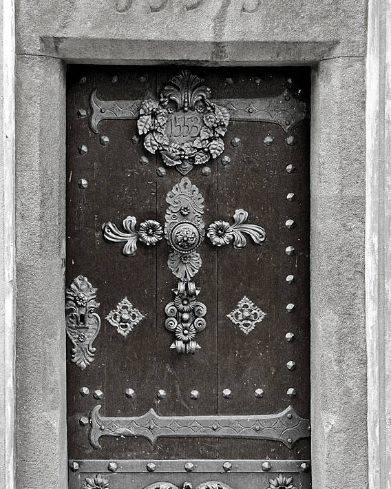 Door Poster featuring the photograph The Door - Ceske Budejovice by Christine Till