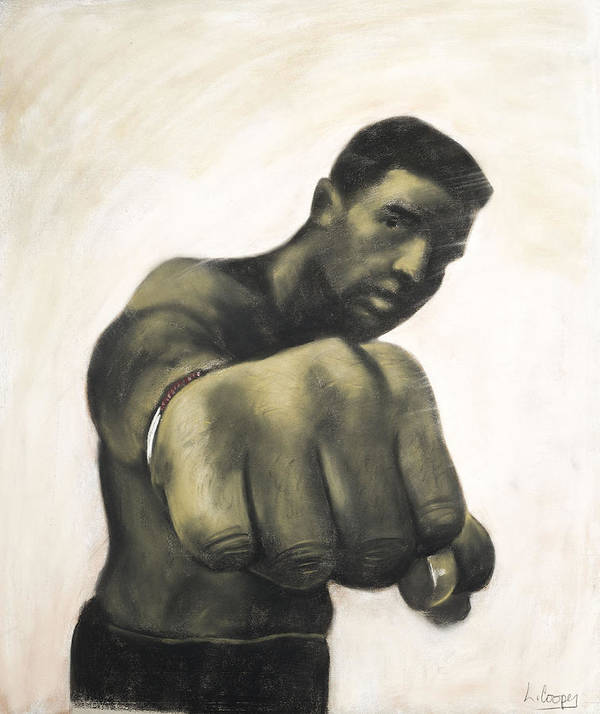 L Cooper Poster featuring the pastel The Fist by L Cooper