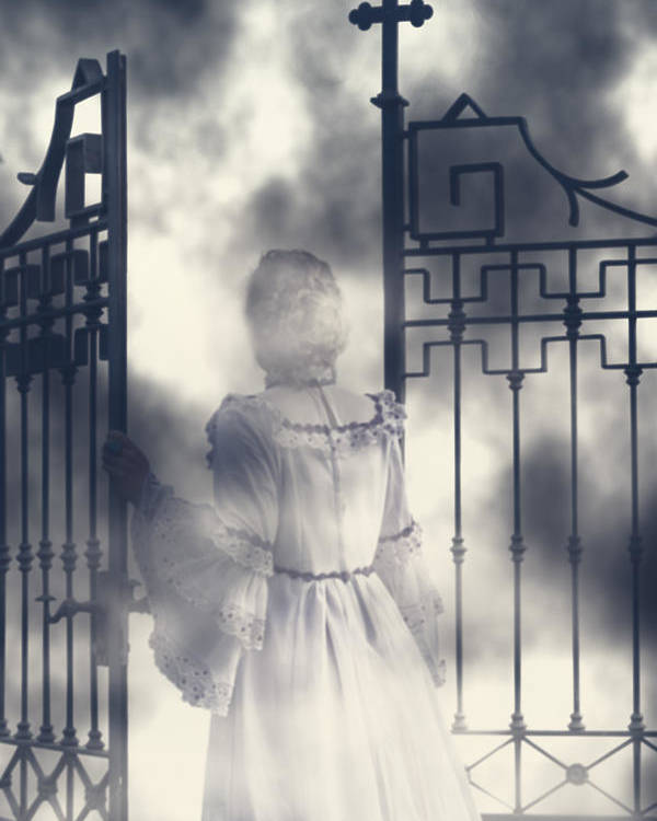 Woman Poster featuring the photograph The Gate by Joana Kruse