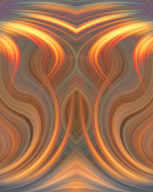Abstract Poster featuring the digital art The Ghost Of Fire by Linda Phelps
