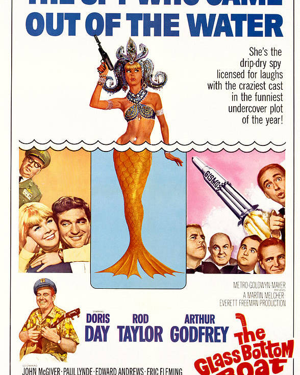 1960s Movies Poster featuring the photograph The Glass Bottom Boat, Edward Andrews by Everett