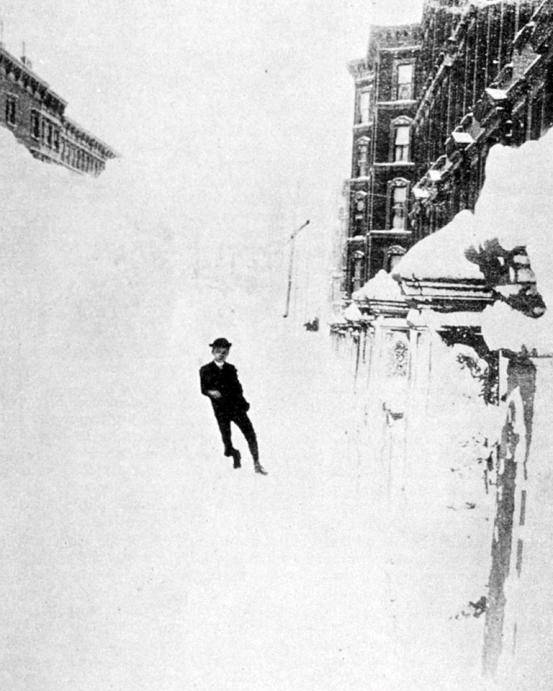 Science Poster featuring the photograph The Great Blizzard, Nyc, 1888 by Science Source