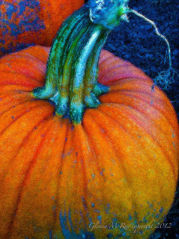 Autumn Poster featuring the digital art The Great Pumpkin by Glenna McRae