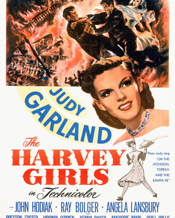 1940s Movies Poster featuring the photograph The Harvey Girls, Judy Garland, 1946 by Everett