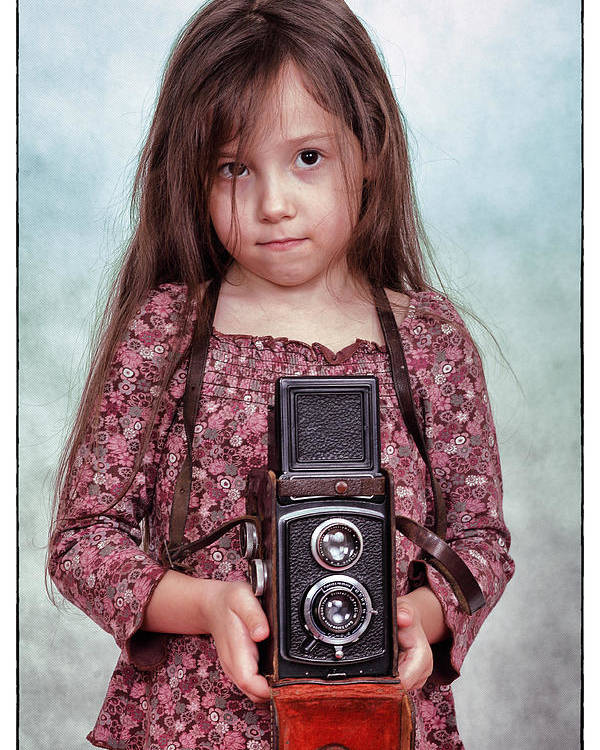 Photographer Poster featuring the photograph The Little Photographer by Ferenc Farago