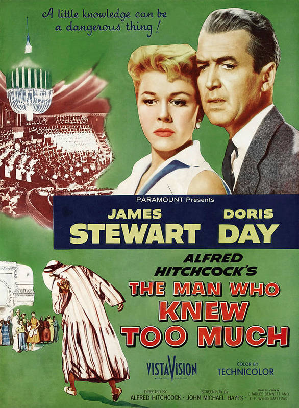 1956 Movies Poster featuring the photograph The Man Who Knew Too Much, Top by Everett