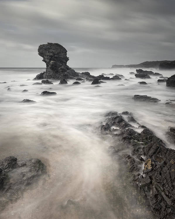 Seascape Poster featuring the photograph The Milky Sea by Andy Astbury