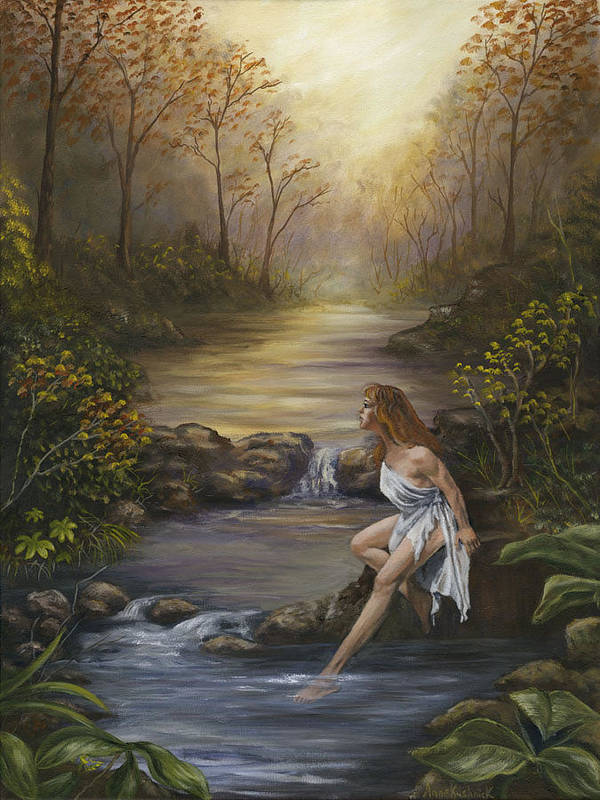 Landscape Poster featuring the painting The Muse by Anne Kushnick