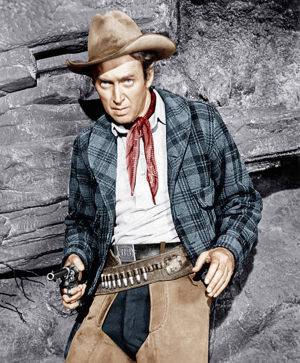 1950s Portraits Poster featuring the photograph The Naked Spur, James Stewart, 1953 by Everett