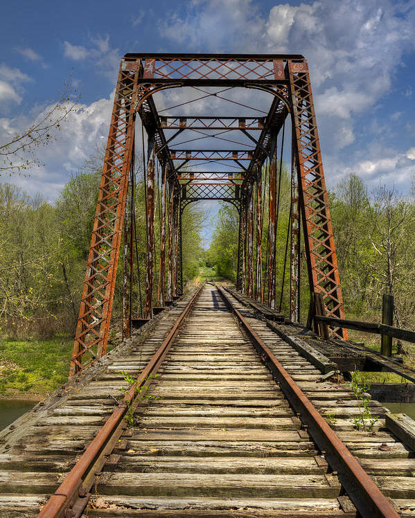 American Poster featuring the photograph The Old Trestle by Debra and Dave Vanderlaan