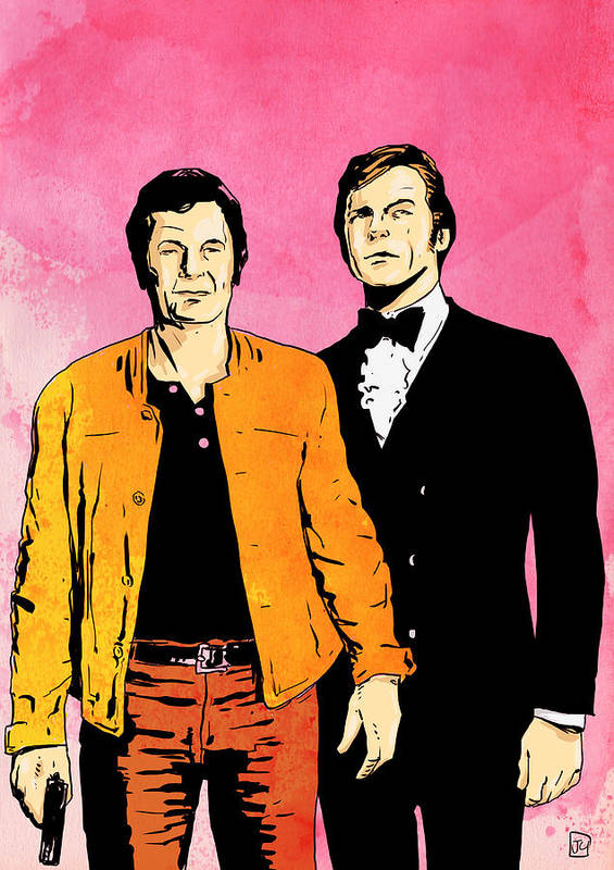 The Persuaders Poster featuring the drawing The Persuaders by Giuseppe Cristiano