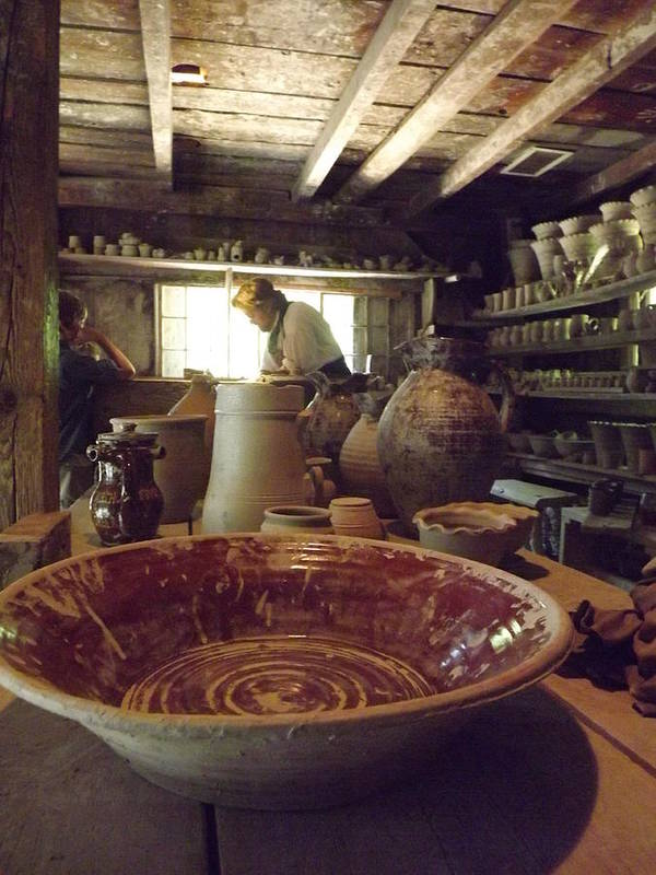 Potter Poster featuring the photograph The Potters Barn by Cathy Curreri