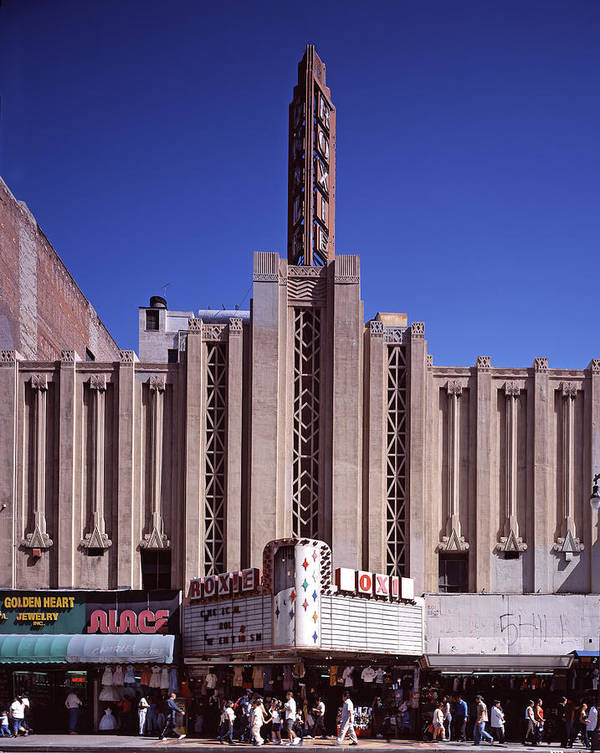 2000s Poster featuring the photograph The Roxie Theater, Built By John M by Everett