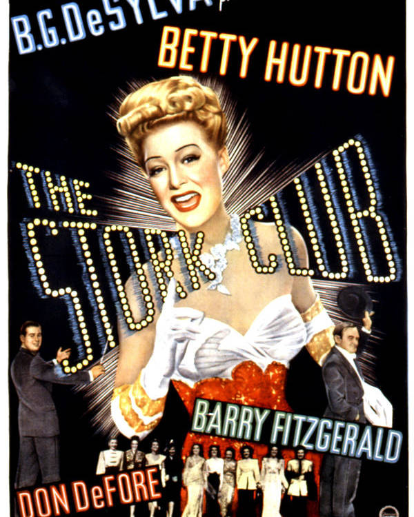 1940s Movies Poster featuring the photograph The Stork Club, Don Defore, Betty by Everett