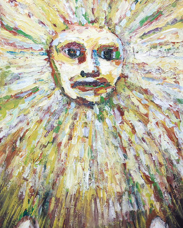 The Sun God Poster featuring the painting The Sun God by Kazuya Akimoto