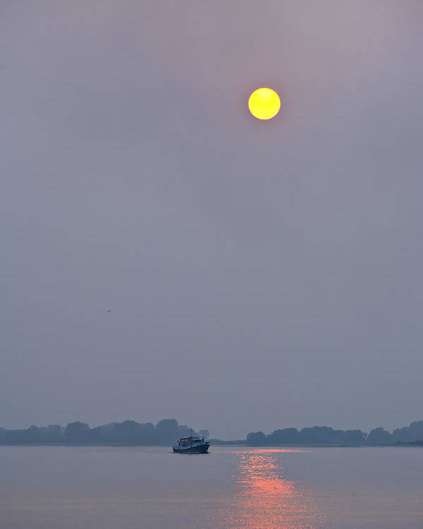 Sun Poster featuring the photograph The Sun Over The Volga by Andrew Shlykoff