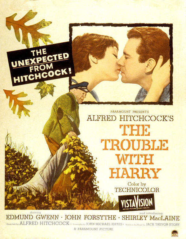 1950s Poster Art Poster featuring the photograph The Trouble With Harry, Shirley by Everett