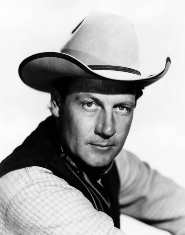 1940s Portraits Poster featuring the photograph The Virginian, Joel Mccrea, 1946 by Everett