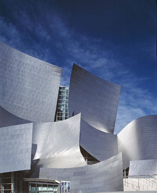 2000s Poster featuring the photograph The Walt Disney Concert Hall, By Frank by Everett
