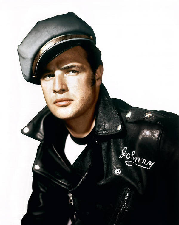 1950s Portraits Poster featuring the photograph The Wild One, Marlon Brando, 1954 by Everett