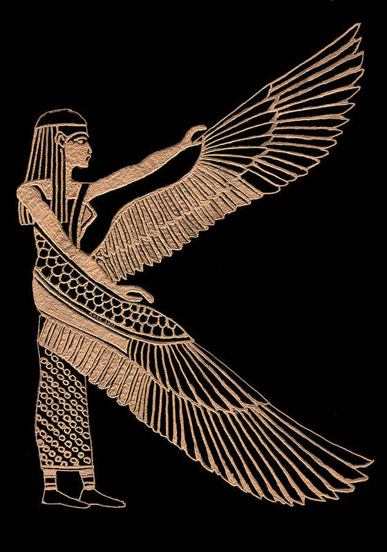 Isis Poster featuring the sculpture The Winged Isis by Jim Ross