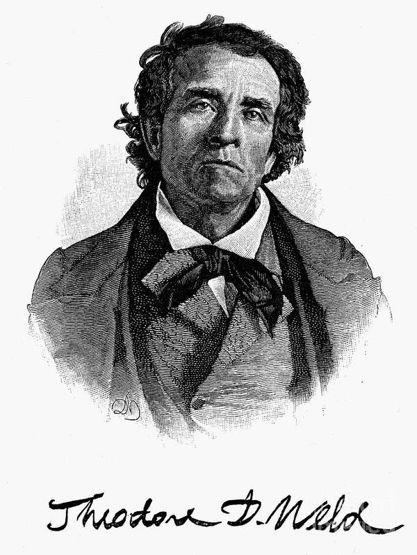 1844 Poster featuring the photograph Theodore D. Weld (1803-1895) by Granger