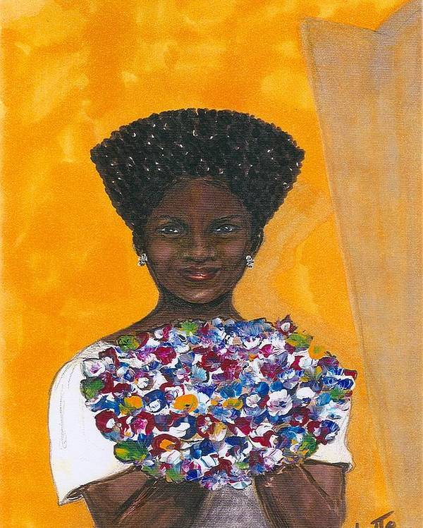 Woman Poster featuring the painting This Is For You by Rhetta Hughes