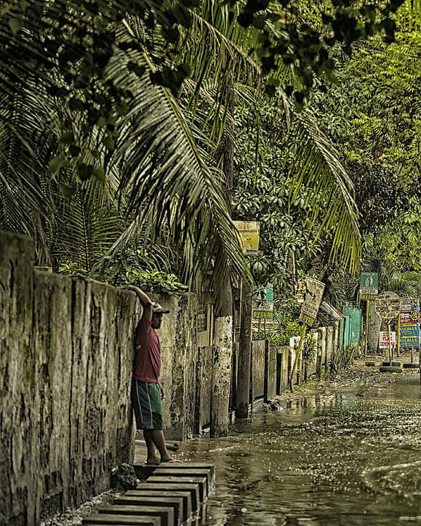 Cebu Poster featuring the photograph This Is The Philippines No.57 - Guess Im Gonna Get Wet Feet by Paul W Sharpe Aka Wizard of Wonders