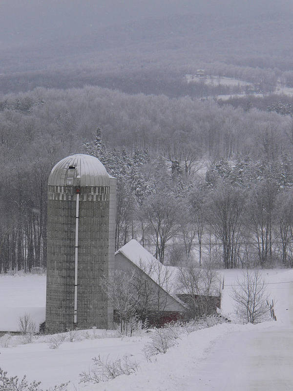 Vermont Farm Poster featuring the photograph Tinted Winter by Natalie LaRocque