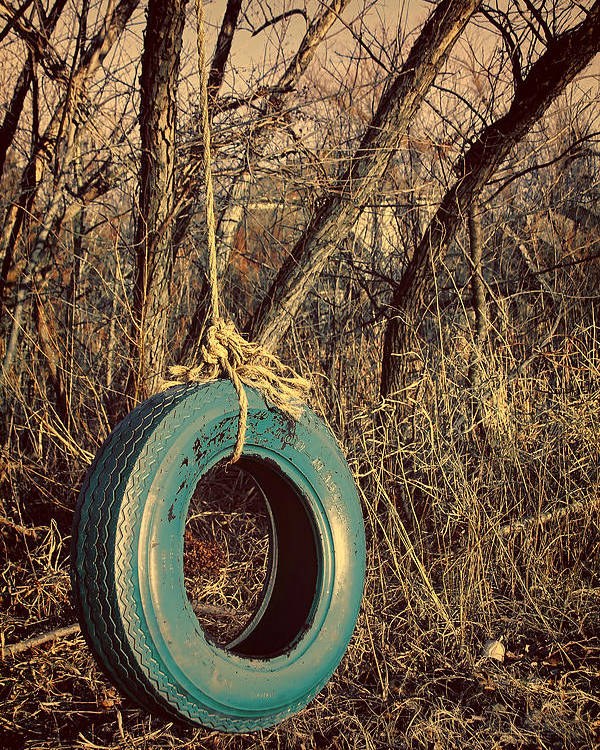 Americana Poster featuring the photograph Tire Swing by Tony Grider