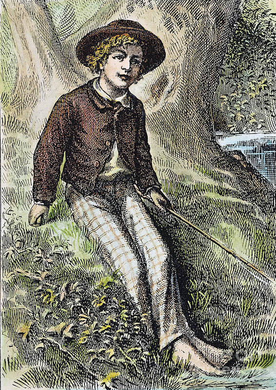 1876 Poster featuring the photograph Tom Sawyer, 1876 by Granger