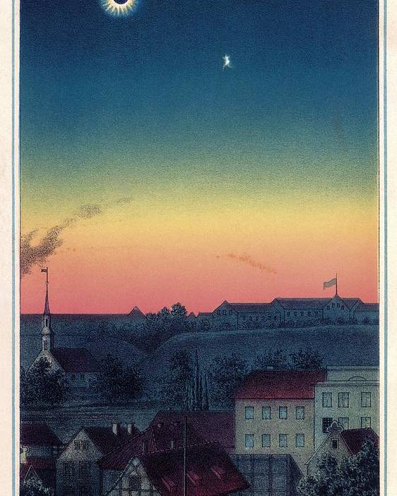 1800s Poster featuring the photograph Total Solar Eclipse, 1851 Artwork by Detlev Van Ravenswaay