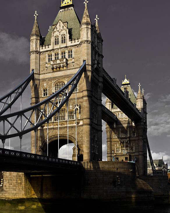 London Poster featuring the digital art Tower Bridge by David Pyatt