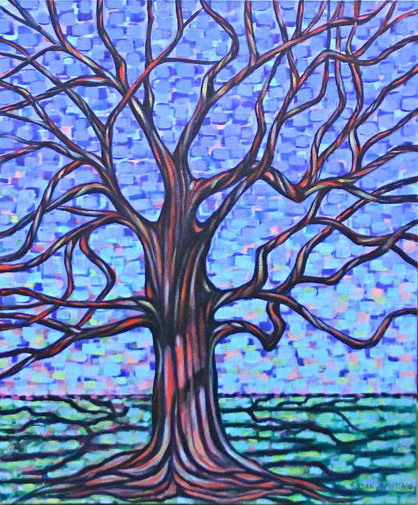 Tree Poster featuring the painting Tree #2 by Susan Santiago