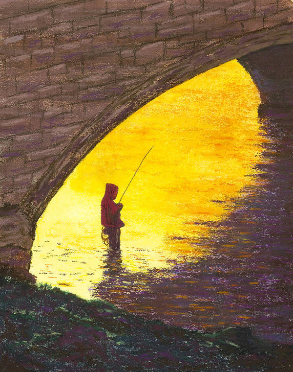 Fishing Poster featuring the painting Trout Fishing by Garry McMichael