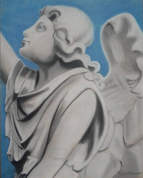 Angel Poster featuring the pastel Trust by Gail Cowan