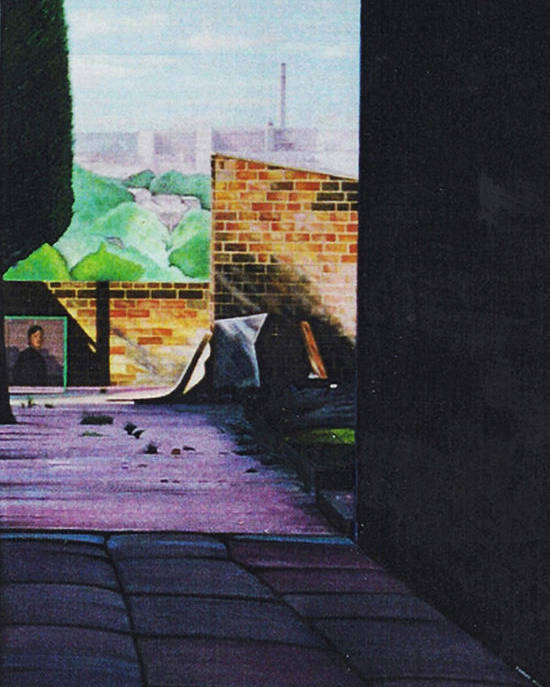 English Northern Industrial Landscape Poster featuring the painting Tunnel Vision 4 by Leslie Bell