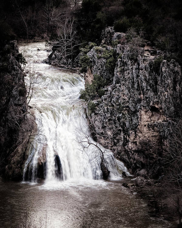 turner Falls Poster featuring the photograph Turner Falls Roar by Tamyra Ayles