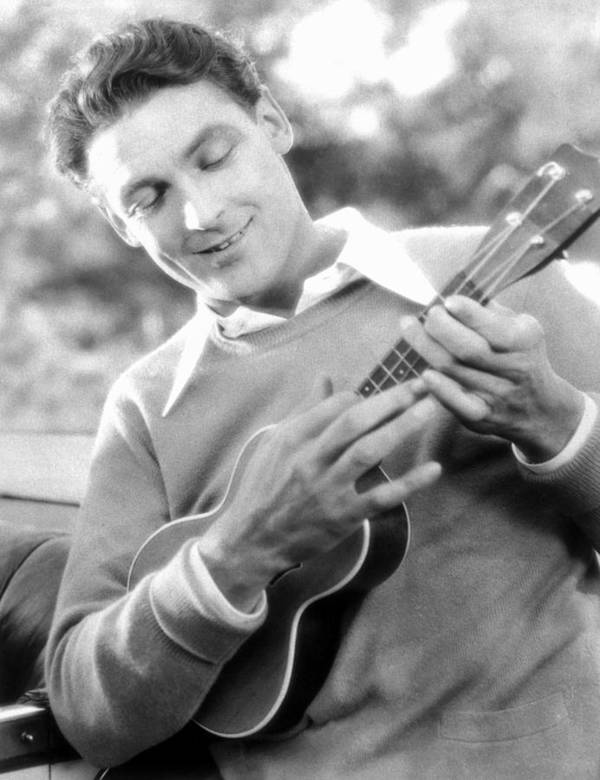 -music- Poster featuring the photograph Ukelele Player, C1927 by Granger