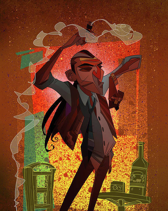 Gypsy Poster featuring the digital art Un Hombre by Nelson Dedos Garcia