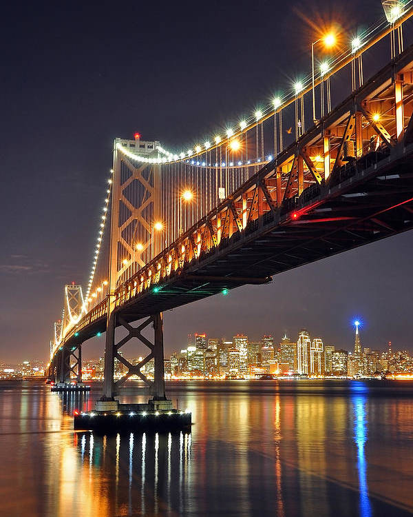 Cityscape Poster featuring the photograph Under The Bay Bridge by Jessie Dickson