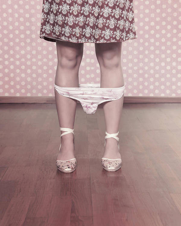 Female Poster featuring the photograph Underpants by Joana Kruse