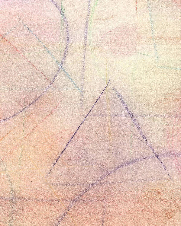 Abstract Poster featuring the pastel Untitled by Marc Chambers