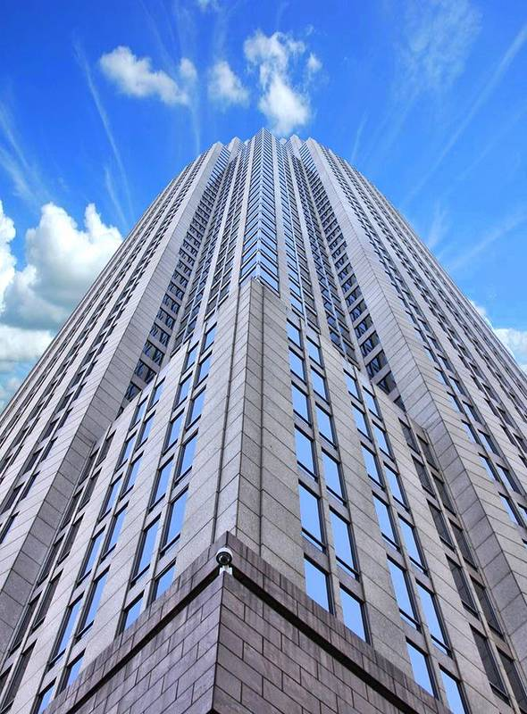 Charlotte North Carolina Highrise Poster featuring the photograph Up In The Sky by Kenneth Mucke