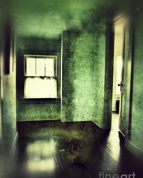 Hall Poster featuring the photograph Upstairs Hallway In Old House by Jill Battaglia