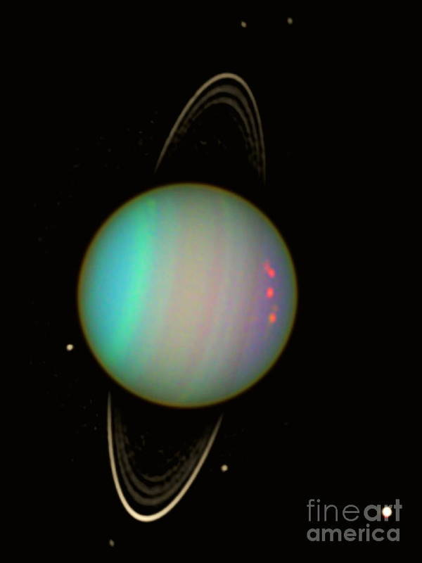 Science Poster featuring the photograph Uranus by Science Source