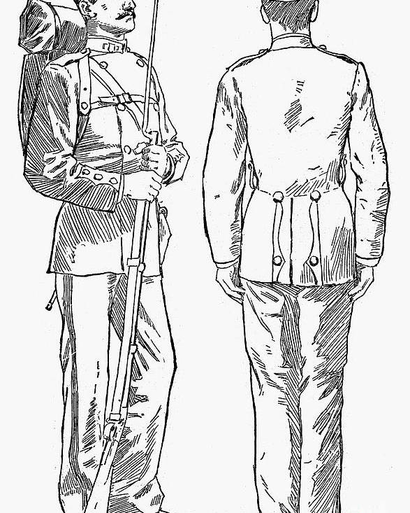 1882 Poster featuring the photograph U.s. Army: Fatigues, 1882 by Granger