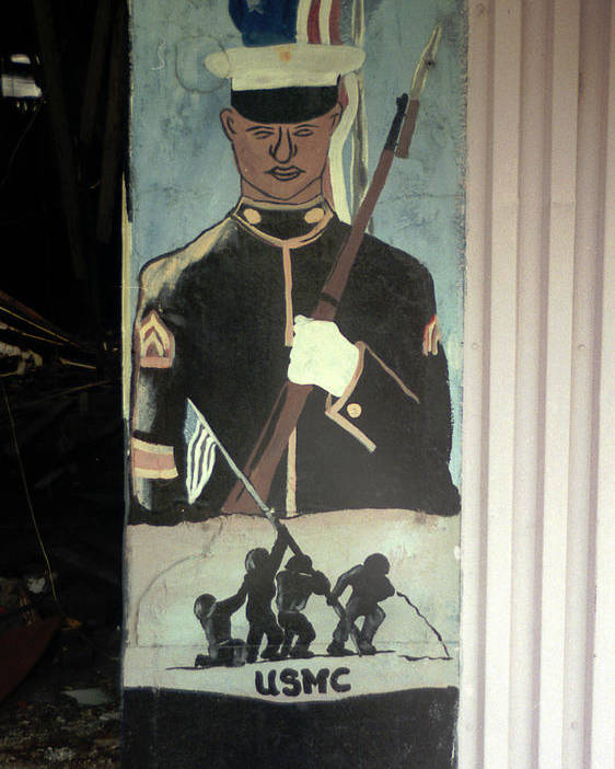 Louisiana Poster featuring the photograph Usmc Mural by Doug Duffey
