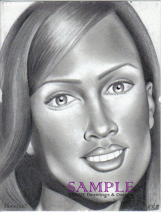 Portraits Poster featuring the drawing Vanessa by Rick Hill